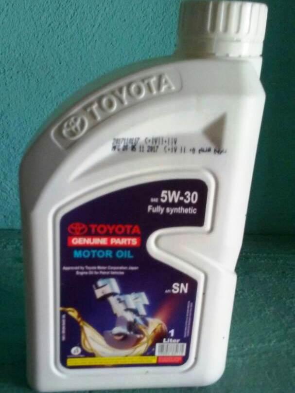 Toyota Engine Oil SAE 5W-30 API SN Synthetic 1Liter on Umbrellomax com